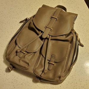 Zara Cream Pleather Backpack